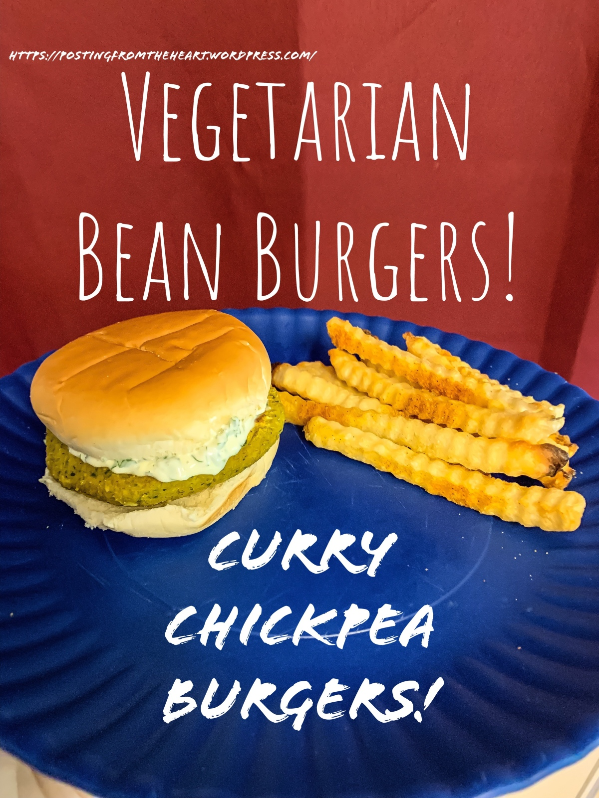 Vegetarian Bean Burgers: Curry Chickpea Burgers