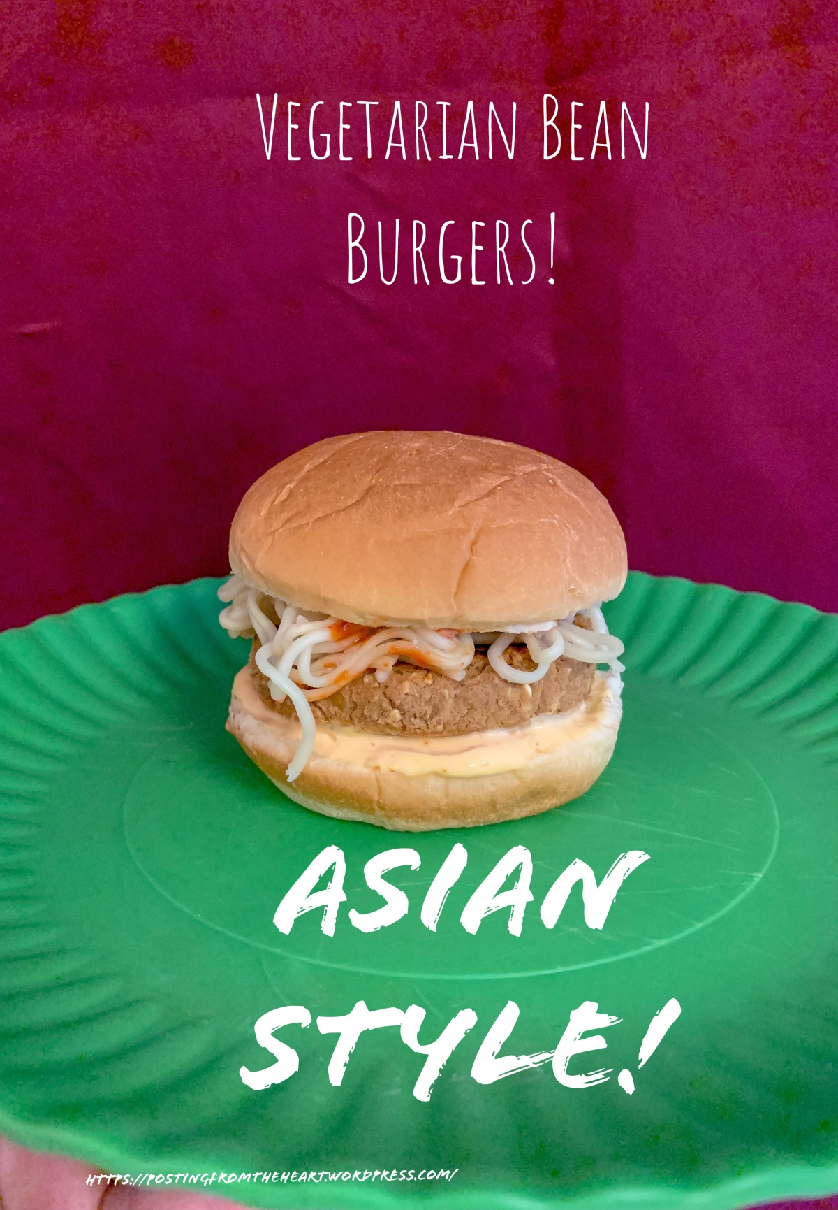 Vegetarian Bean Burgers: Asian Style Bean Burgers!