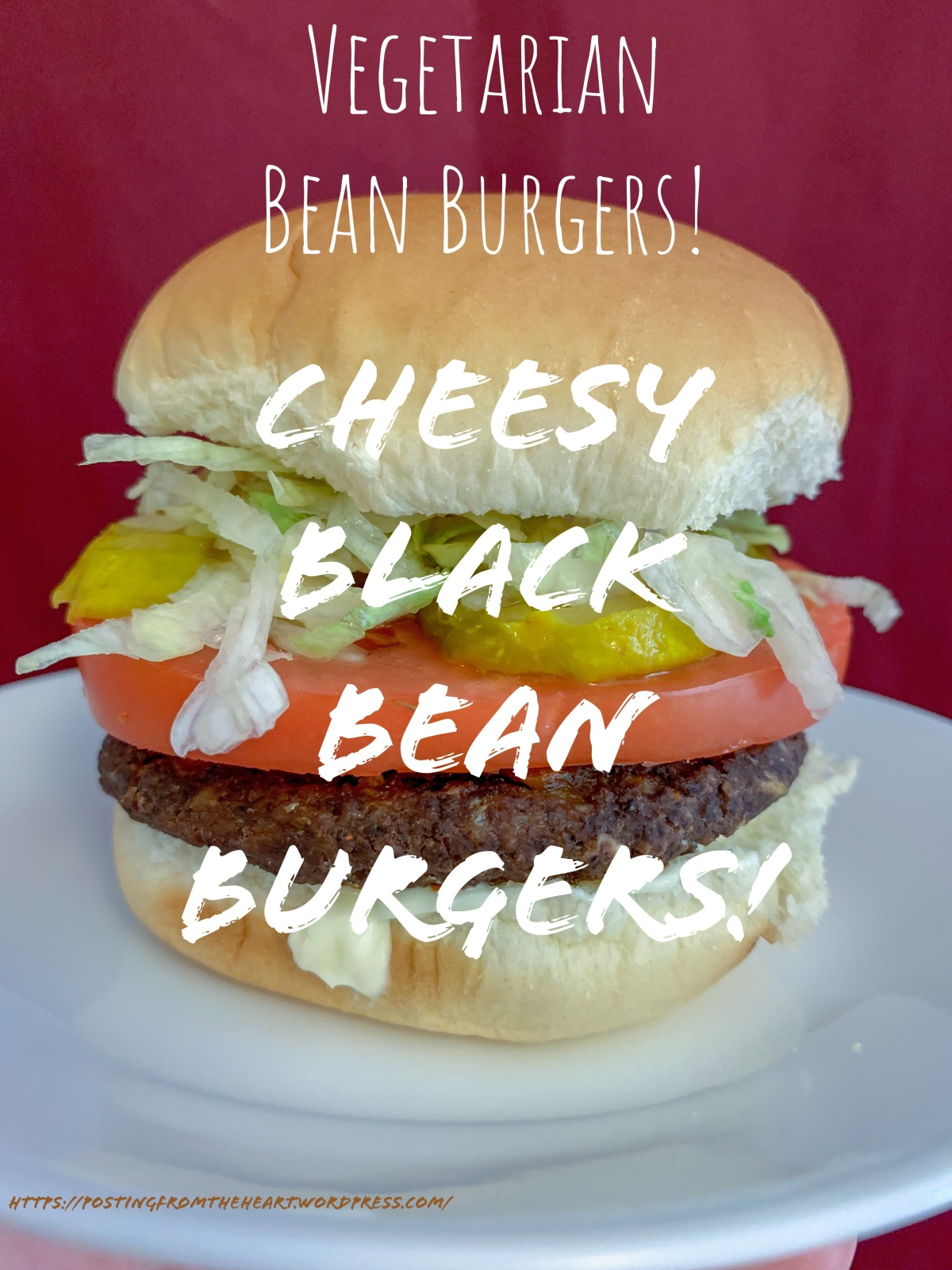 Vegetarian Bean Burgers: Cheesy Black Bean Burgers!